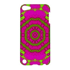 Fern Forest Star Mandala Decorative Apple Ipod Touch 5 Hardshell Case by pepitasart