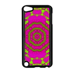 Fern Forest Star Mandala Decorative Apple Ipod Touch 5 Case (black) by pepitasart