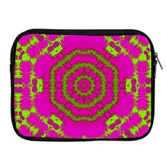 Fern Forest Star Mandala Decorative Apple Ipad 2/3/4 Zipper Cases by pepitasart
