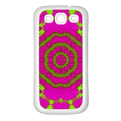 Fern Forest Star Mandala Decorative Samsung Galaxy S3 Back Case (white) by pepitasart