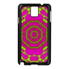 Fern Forest Star Mandala Decorative Samsung Galaxy Note 3 N9005 Case (black) by pepitasart