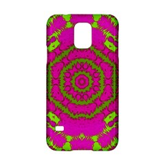 Fern Forest Star Mandala Decorative Samsung Galaxy S5 Hardshell Case  by pepitasart