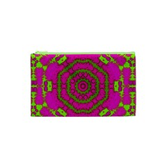 Fern Forest Star Mandala Decorative Cosmetic Bag (xs) by pepitasart