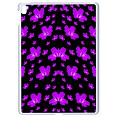Pretty Flowers Apple Ipad Pro 9 7   White Seamless Case by pepitasart