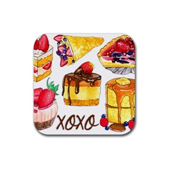 Xoxo Rubber Coaster (square)  by KuriSweets