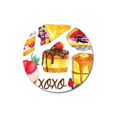 Xoxo Magnet 3  (round) by KuriSweets