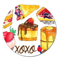 Xoxo Magnet 5  (round) by KuriSweets