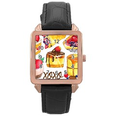 Xoxo Rose Gold Leather Watch  by KuriSweets