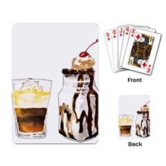 Coffee And Milkshakes Playing Card by KuriSweets