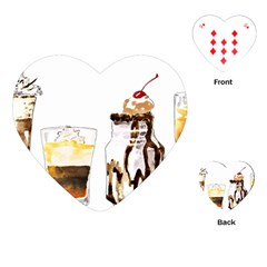Coffee And Milkshakes Playing Cards (heart)  by KuriSweets