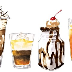Coffee And Milkshakes Magic Photo Cubes by KuriSweets