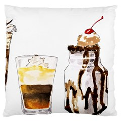 Coffee And Milkshakes Large Cushion Case (one Side) by KuriSweets