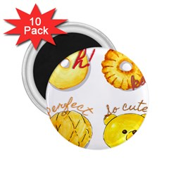 Cute Bread 2 25  Magnets (10 Pack)  by KuriSweets