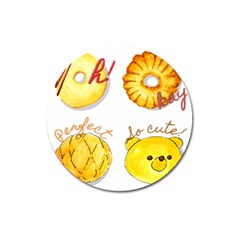Cute Bread Magnet 3  (round) by KuriSweets