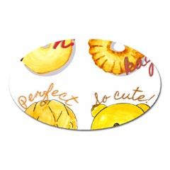 Cute Bread Oval Magnet by KuriSweets