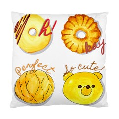 Cute Bread Standard Cushion Case (two Sides) by KuriSweets