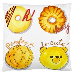 Bread Stickers Large Flano Cushion Case (one Side) by KuriSweets