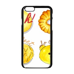 Bread Stickers Apple Iphone 6/6s Black Enamel Case by KuriSweets