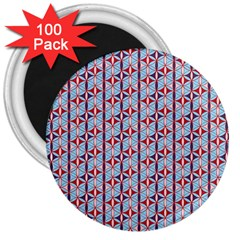 Tiger Eye Pattern 3 3  Magnets (100 Pack) by Cveti