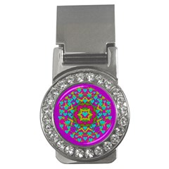 Hearts In A Mandala Scenery Of Fern Money Clips (cz)  by pepitasart