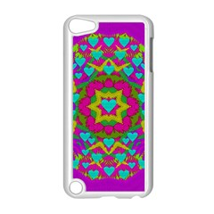 Hearts In A Mandala Scenery Of Fern Apple Ipod Touch 5 Case (white) by pepitasart
