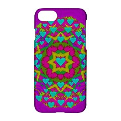 Hearts In A Mandala Scenery Of Fern Apple Iphone 7 Hardshell Case by pepitasart