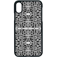 Dark Oriental Ornate Pattern Apple Iphone X Seamless Case (black) by dflcprints