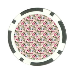 Cute Floral 218a Poker Chip Card Guard by MoreColorsinLife