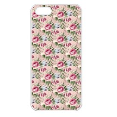 Cute Floral 218a Apple Iphone 5 Seamless Case (white) by MoreColorsinLife