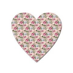 Cute Floral 218a Heart Magnet by MoreColorsinLife