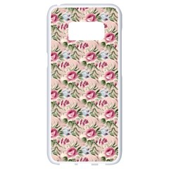 Cute Floral 218a Samsung Galaxy S8 White Seamless Case by MoreColorsinLife