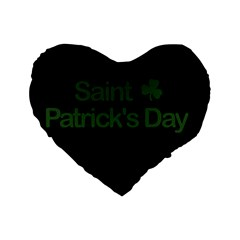 St  Patricks Day  Standard 16  Premium Heart Shape Cushions by Valentinaart
