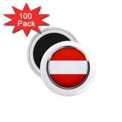 Austria Country Nation Flag 1 75  Magnets (100 Pack)  by Nexatart