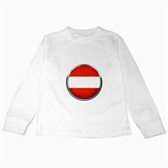 Austria Country Nation Flag Kids Long Sleeve T Shirts