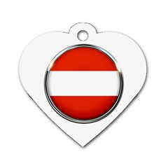 Austria Country Nation Flag Dog Tag Heart (one Side)
