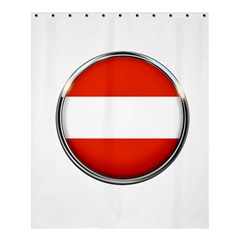 Austria Country Nation Flag Shower Curtain 60  X 72  (medium)