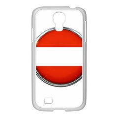 Austria Country Nation Flag Samsung Galaxy S4 I9500/ I9505 Case (white)