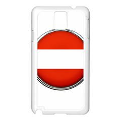 Austria Country Nation Flag Samsung Galaxy Note 3 N9005 Case (white)