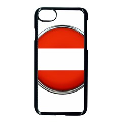 Austria Country Nation Flag Apple Iphone 8 Seamless Case (black)