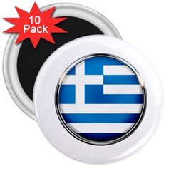 Greece Greek Europe Athens 3  Magnets (10 Pack)  by Nexatart