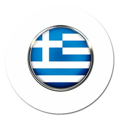 Greece Greek Europe Athens Magnet 5  (round) by Nexatart