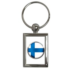 Finland Country Flag Countries Key Chains (rectangle)  by Nexatart
