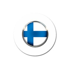 Finland Country Flag Countries Magnet 3  (round) by Nexatart