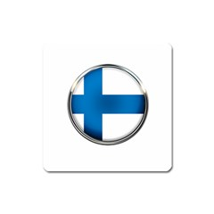 Finland Country Flag Countries Square Magnet by Nexatart