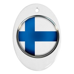 Finland Country Flag Countries Oval Ornament (two Sides)
