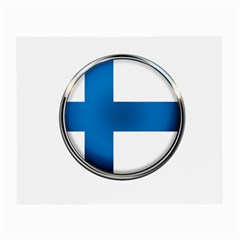 Finland Country Flag Countries Small Glasses Cloth (2 Side) by Nexatart