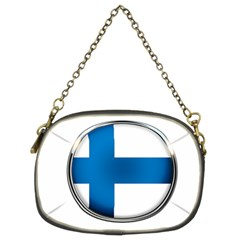 Finland Country Flag Countries Chain Purses (two Sides)  by Nexatart