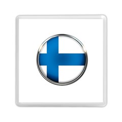 Finland Country Flag Countries Memory Card Reader (square)  by Nexatart