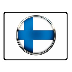 Finland Country Flag Countries Double Sided Fleece Blanket (small)
