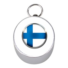 Finland Country Flag Countries Mini Silver Compasses by Nexatart